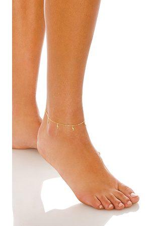 Adina's Jewels Lightning Anklet in Metallic .