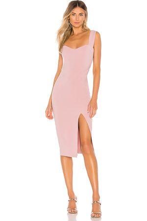 Nookie Divine Midi Dress in Pink.