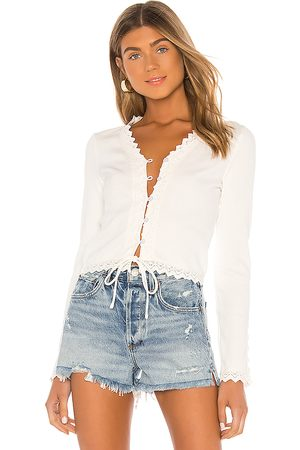 LINE & DOT Arcadia Lace Trim Top in .