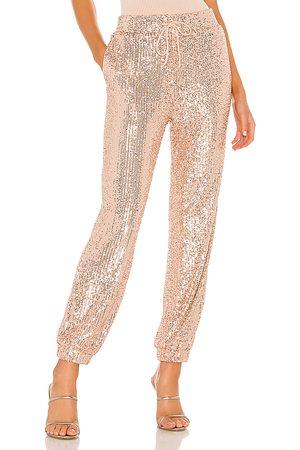 MAJORELLE Cairo Pant in Metallic Gold.