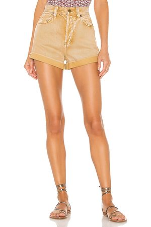 Free People Setting With The Sun Short in Tan.