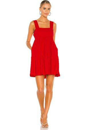 Amanda Uprichard Mitzi Mini Dress in Red.