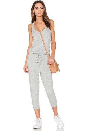 Bobi Supreme Jersey Sleeveless Jumpsuit in Grey.
