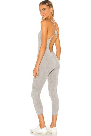 Free People X FP Movement Side To Side Performance Jumpsuit in Grey.