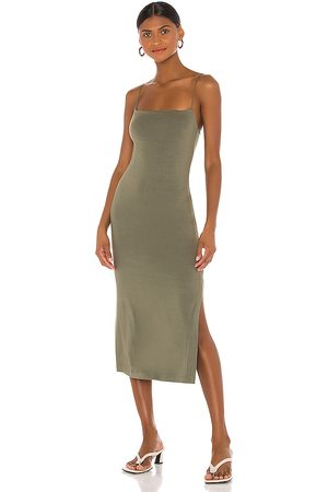 ENZA COSTA X REVOLVE Strappy Side Slit Dress in Green.