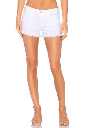 7 for all Mankind Cut Off Short in White.