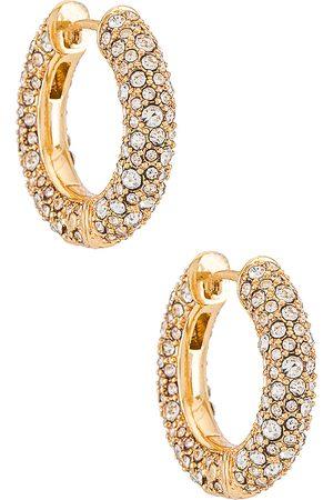Baublebar Carina Huggie Hoops in Metallic Gold.
