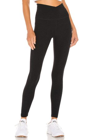 Beyond Yoga Spacedye At Your Leisure High Waisted Midi Legging in Black.