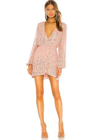 Lovers + Friends Poppy Mini Dress in Blush.
