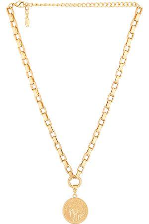 Ettika Coin Necklace in Metallic .