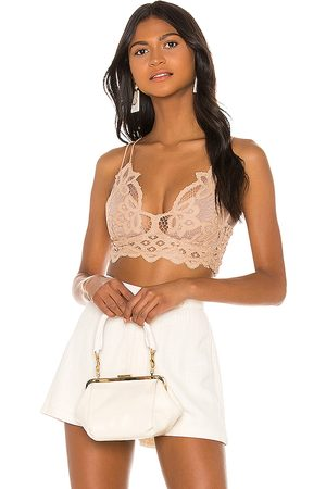 Free People Adella Bralette in Tan.