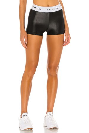 Koral Aden Hot High Rise Infinity Shorts in Black.