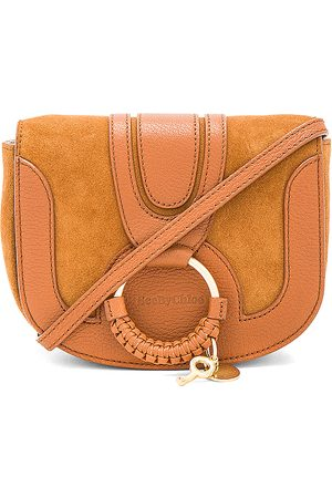 See by Chloé Hana Mini Suede & Leather Crossbody in Brown.