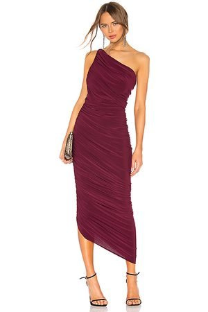 Norma Kamali Diana Gown in Purple.