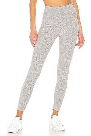 Beyond Yoga Spacedye Caught In The Midi High Waisted Legging in Grey.