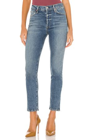 Citizens of Humanity Olivia Ankle High Rise Slim in Blue.