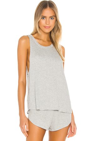 Eberjey Elon Muscle Tank in Grey.