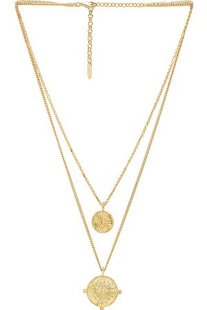 Luv AJ X REVOLVE The Double Coin Charm Necklace in Metallic .