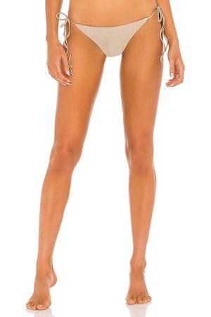 Jade Swim Ties Bikini Bottom in Taupe.