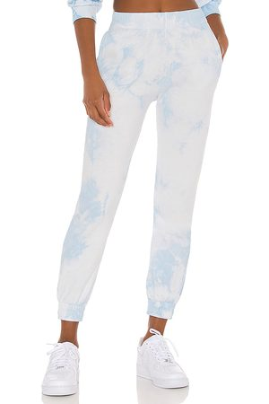 Frankies Bikinis Aiden Sweatpant in Baby Blue.