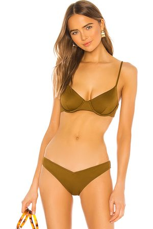 Tori Praver Swimwear X REVOLVE Emery Underwire Bikini Top in Olive.