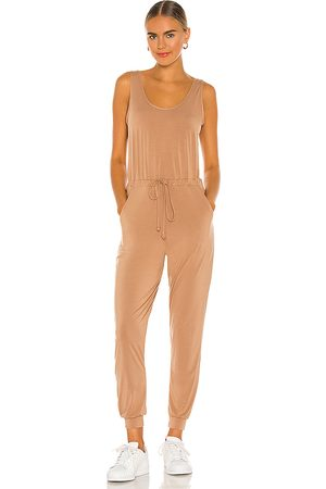 Commando Butter Tank Lounge Jumpsuit in Tan.
