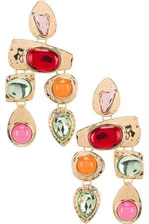 petit moments Stone Earrings in Metallic Gold.