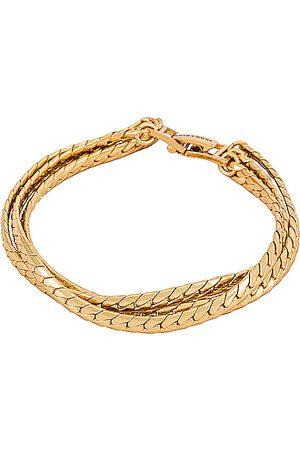 Jenny Priya Layered Bracelet in Metallic .