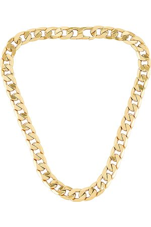 Baublebar Large Michel Curb Chain Necklace in Metallic .