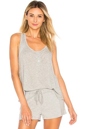 Splendid Racer Back Tank in Light Gray.