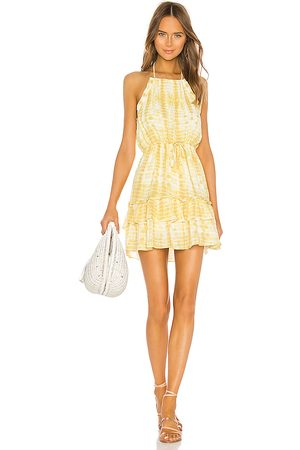MAJORELLE Baker Mini Dress in Yellow.