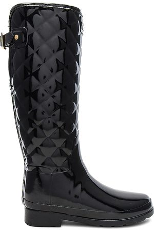 Hunter Refined Gloss Quilt Tall Boot in .
