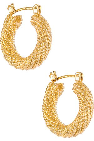 Electric Picks Jewelry Presley Hoops in Metallic .
