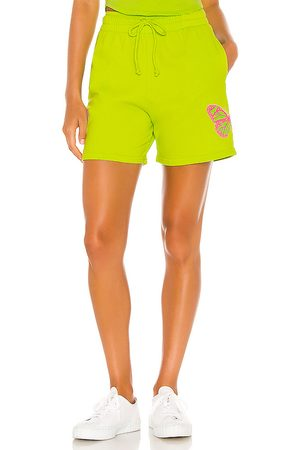 Frankies Bikinis Burl Sweat Short in Green.