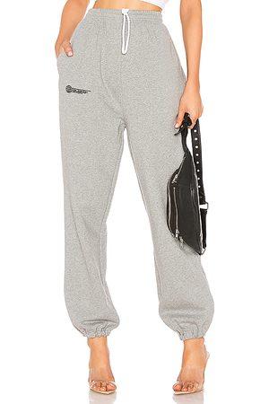 DANIELLE GUIZIO Fleece Sweatpant in Gray.