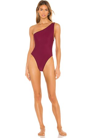 lovewave The Angie One Piece in Wine.