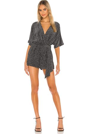 Lovers + Friends Nighttime Sky Romper in Metallic .