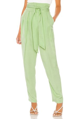 L'Academie The Frostine Pant in Mint.