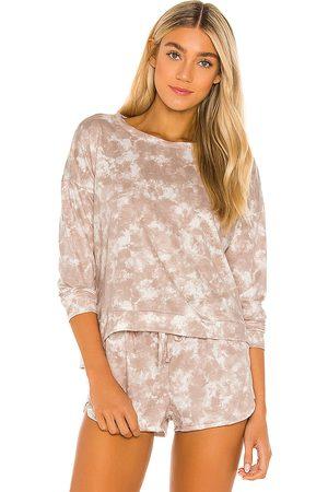 Onzie X REVOLVE High Low Sweatshirt in Tan,White.