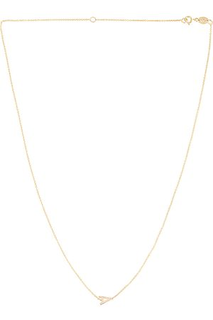 Zoe Lev 14K Asymmetrical Initial Necklace in Metallic .