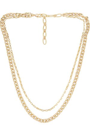 Amber Sceats Layered Chain Necklace in Metallic .