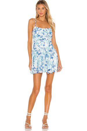 MAJORELLE Demi Mini Dress in Blue.