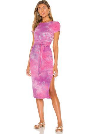 Lovers + Friends Brooklyn Midi Dress in Pink.