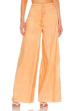 L'Academie Autumn Pants in Orange.