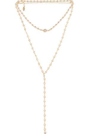 Ettika Layered Lariat Necklace in Metallic .