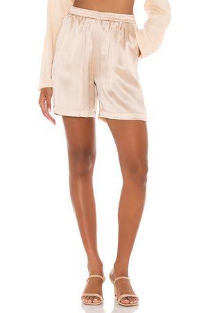 Amanda Uprichard X REVOLVE Yves Bermuda Shorts in Blush,Beige.