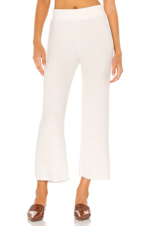 NSF Steff Wide Leg Pull On Pant in Ivory.