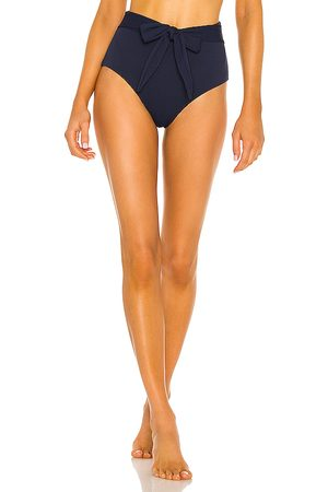 Eberjey Pique Nina Bikini Bottom in Navy.