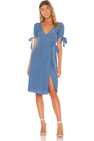 MAJORELLE Roxy Midi Dress in Blue.