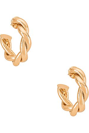 Amber Sceats Twist Hoop Earring in Metallic .